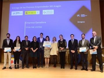 La empresa Titan Fire System gana los Premios EmprendedorXXI en Aragón